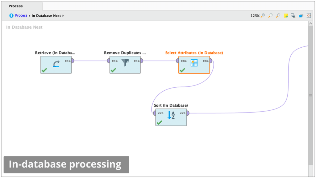 RapidMiner in data base processing