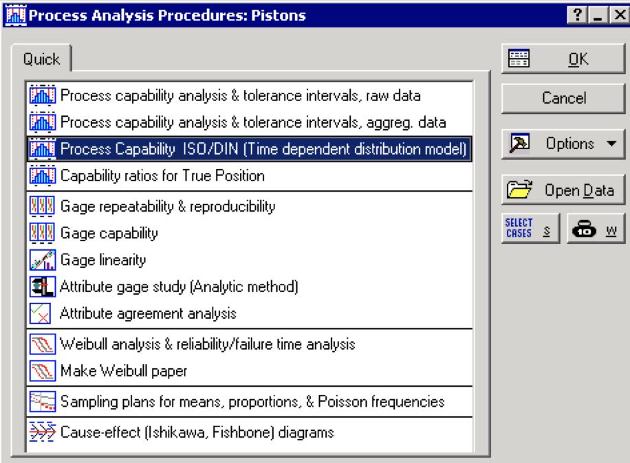 Statistica Process Analysis